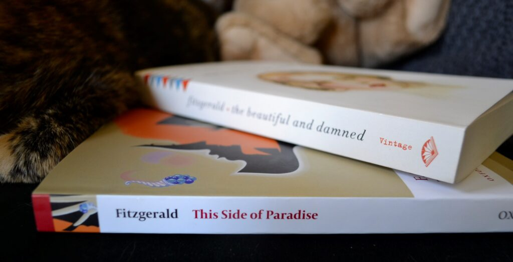 The spines of The Beautiful and Damned and This Side of Paradise.